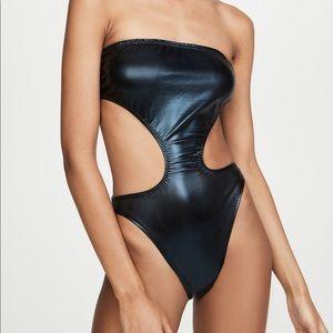 Norma Kamali black foil